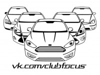 Наклейка Ford Focus Club