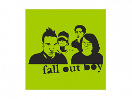Наклейка на авто Fall Out Boy v2